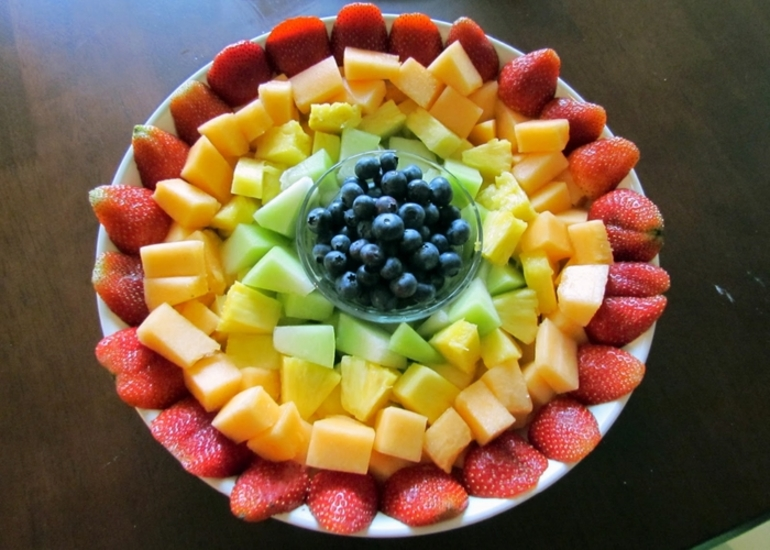 фруктовое оформление в картинках показывает, что демонстрируете