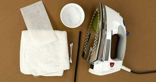 Чем очистить подошву утюга