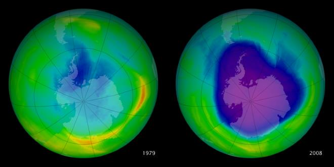 Истощение озонового слоя