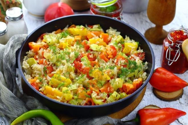 Приготовление риса в сковороде