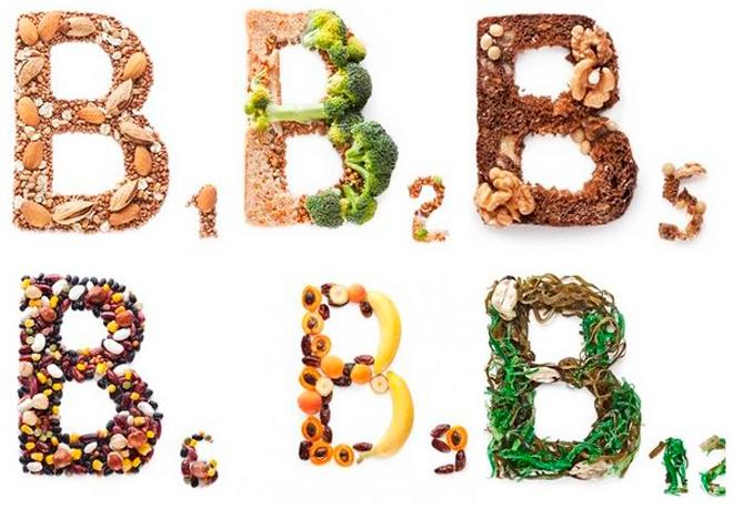 Виды витаминов б