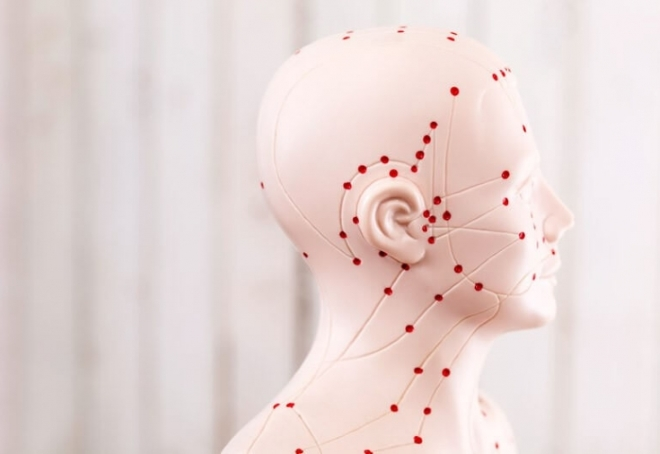 Активные точки головы и шеи