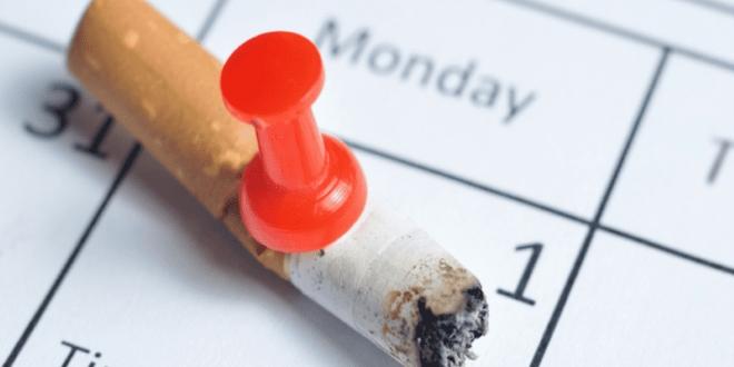 Сигарета на календаре