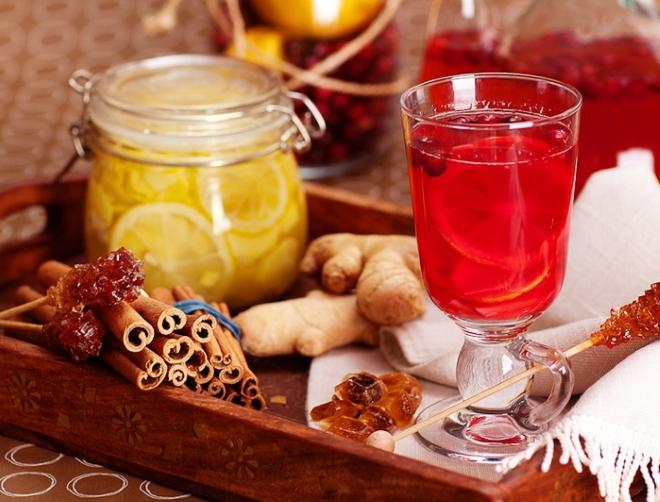 Имбирь с ягодами и лимоном