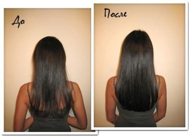 Результат масок для волос