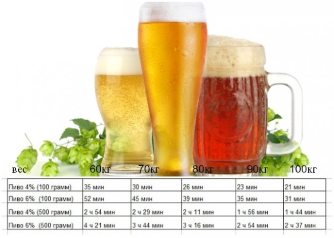 Через сколько выходит пиво