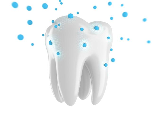 Молекулы вокруг зуба