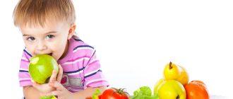 Здоровое питание ребенка дошкольного возраста