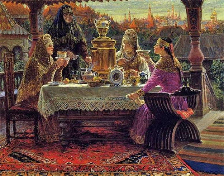 Как на Руси пили чай – с мёдом, вином, молоком, соком?
